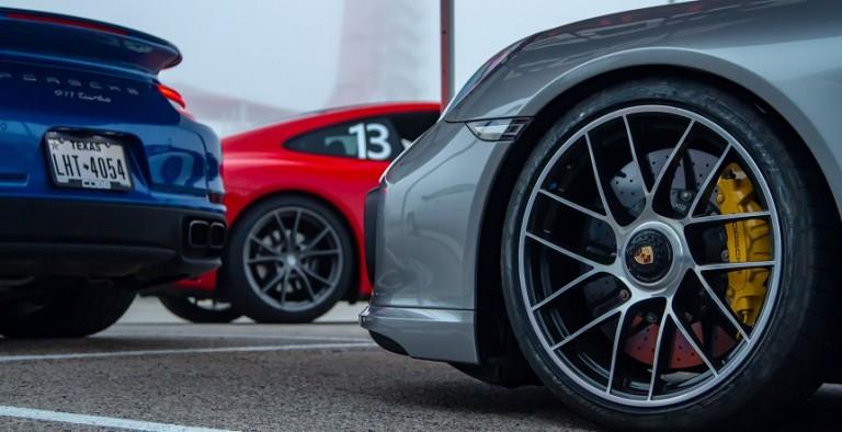 Porsche COTA Testing wheels feature